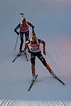 25/01/2015, Anterselva - Antholz - IBU Biathlon World Cup 2015 - Antholz -   Anterselva - Italy<br /> Franziska Preuss (GER) competes at the relay in Anterselva - Antholz, Italy on 25/01/2015. Germany's team with Franziska Hidelbrand, Franziska Preuss, Luise Kummer and Laura Dahlmeier wins.