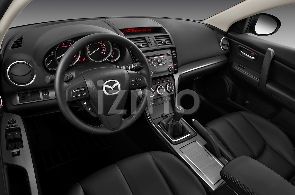 High angle dashboard view of a 2011 Mazda 6 Active Wagon