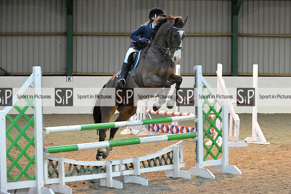 Class 3. 1.05m Open. British showjumping seniors. Brook Farm training centre. Essex. UK. 12/11/2017. ~ MANDATORY CREDIT Garry Bowden/Sport in Pictures - NO UNAUTHORISED USE - +44 7837 394578