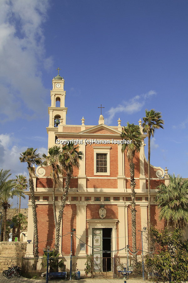 Israel, Tel Aviv-Yafo, the Franciscan St. Peter's Church in Old Jaffa