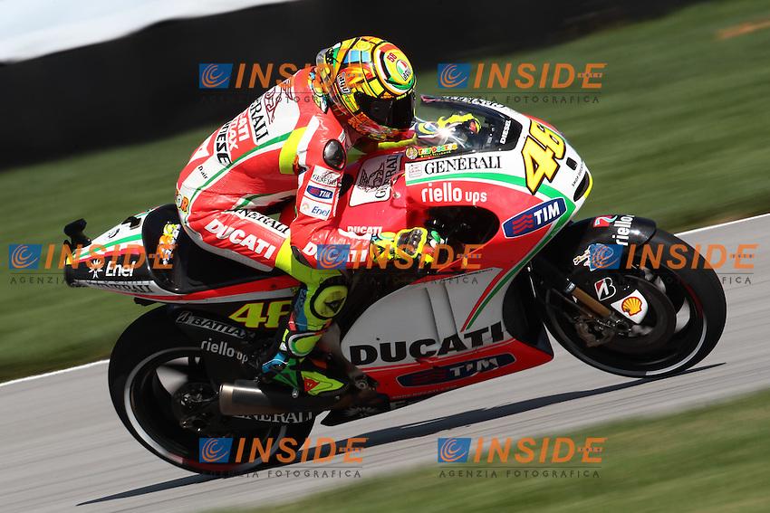 .17-08-2012 Indianapolis (USA).Motogp - motogp.in the picture: Valentino Rossi - Ducati team .Foto Semedia/Insidefoto
