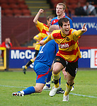 Liam Buchanan celebrates his second half equalising goal for Partick Thistle