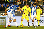 CD Leganes' Martin Mantovani (l) and Alberto Martin (r) and Villarreal CF's Nicola Sansone during La Liga match. December 3,2016. (ALTERPHOTOS/Acero)
