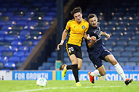 Tom Owen-Evans of Newport County holds off Ryan Leonard of Southend United during Southend United vs Newport County, Caraboa Cup Football at Roots Hall on 8th August 2017