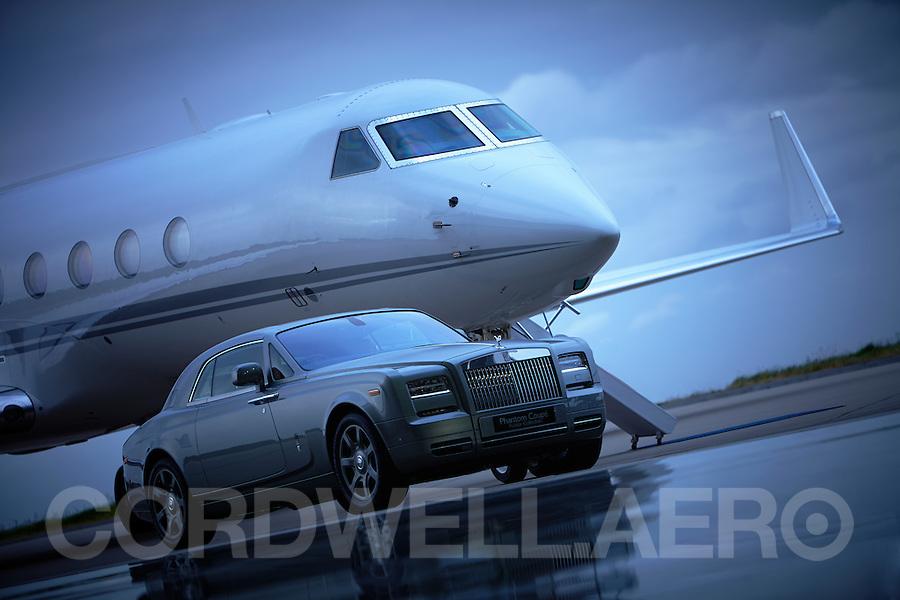Rolls Royce and Gulfstream at Biggin Hill Event