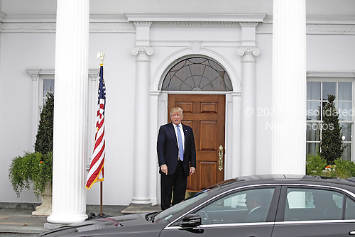 United States President-elect Donald Trump sees off Ari Emanuel at the clubhouse of Trump International Golf Club, in Bedminster Township, New Jersey, USA, 20 November 2016.<br /> Credit: Peter Foley / Pool via CNP