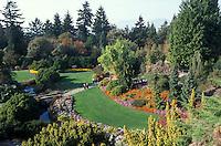 Quarry Gardens in Queen Elizabeth Park, Vancouver, British Columbia, Canada