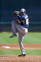 Milwaukee Brewers pitcher Nattino Diplan (83) during an instructional league game against the Los Angeles Dodgers on October 13, 2015 at Cameblack Ranch in Glendale, Arizona.  (Mike Janes/Four Seam Images)
