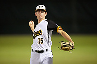 Justin Jarvis (15) while playing for Canes National based out of Fredericksburg, Virginia during the WWBA World Championship at the Roger Dean Complex on October 19, 2017 in Jupiter, Florida.  Justin Jarvis is a pitcher / third baseman from Mooresville, North Carolina who attends Mooresville High School.  (Mike Janes/Four Seam Images)