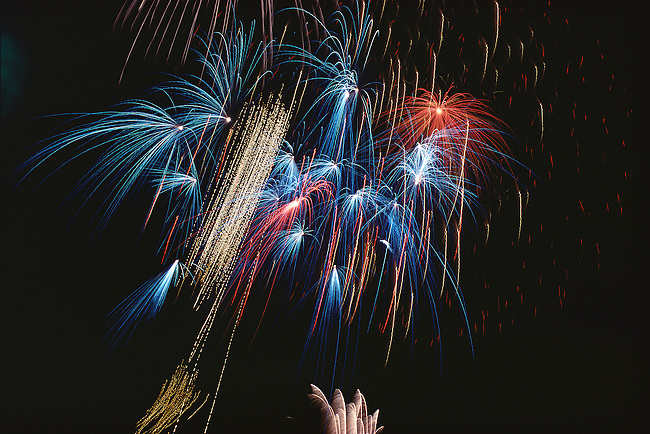 Fireworks, July 4th, Austin, Texas