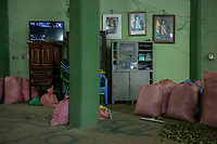 Photographs of former Bolivian President Evo Morales, hang up in the local coca market, in Entre Rios, Chapare province, Bolivia. November 27, 2019.<br /> Des photos de l'ancien président bolivien Evo Morales, accrochées au marché local de la coca, à Entre Rios, province du Chapare, Bolivie. 27 novembre 2019.