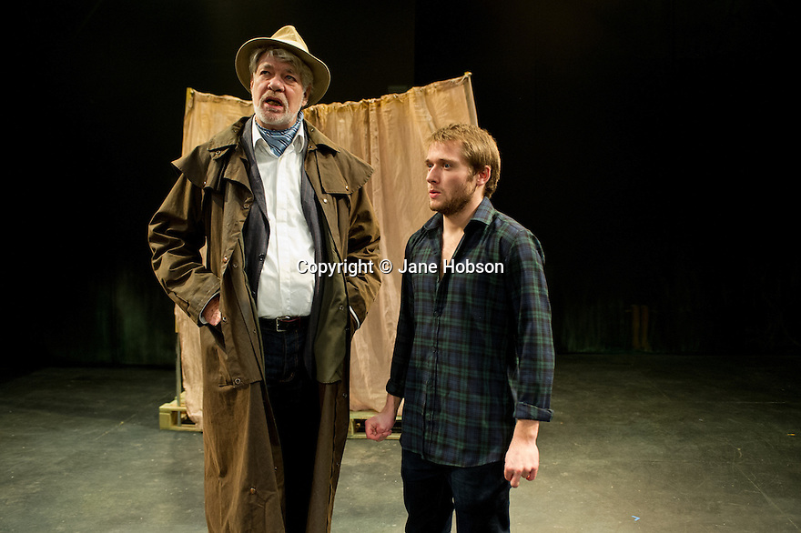 London, UK. 12.11.2012. Anton Chekhov's THE SEAGULL, in a new version by Anya Reiss, opens at Southwark Playhouse. Picture shows: Matthew Kelly and Joseph Drake. Photo credit:Jane Hobson.