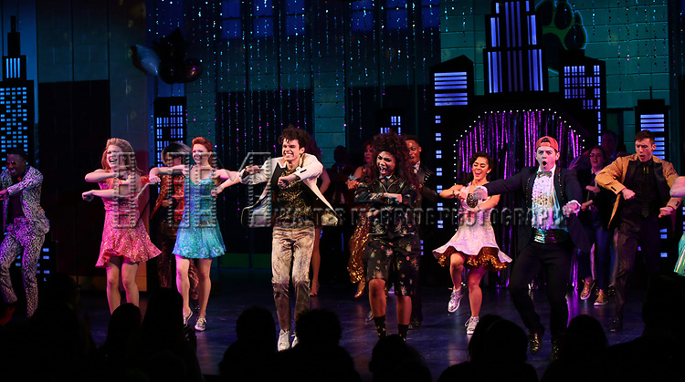 """The cast during the Broadway Opening Night Curtain Call of """"The Prom"""" at The Longacre Theatre on November 15, 2018 in New York City."""
