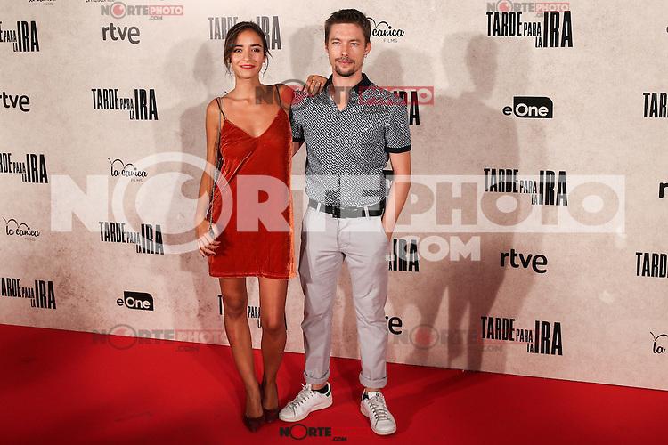 "Tabata Cerezo and Ian Cornet during the premiere of the film ""Tarde para la Ira"" in Madrid. September 08, 2016. (ALTERPHOTOS/Rodrigo Jimenez) /NORTEPHOTO.COM"