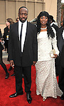 LOS ANGELES, CA. - February 26: Wyclef Jean and Marie Claudinette Jean arrive at the 41st NAACP Image Awards at The Shrine Auditorium on February 26, 2010 in Los Angeles, California.
