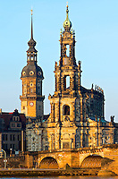 Towers of Dresden in early morning sun