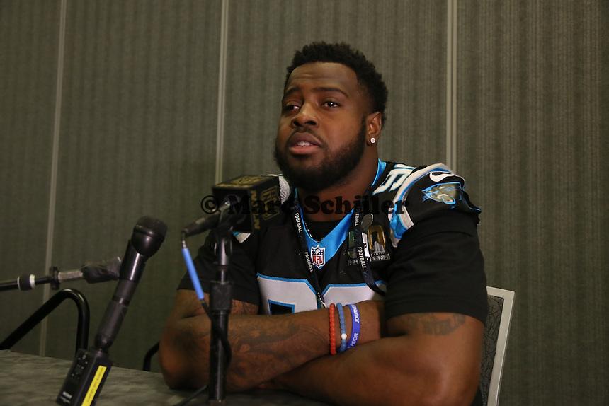 DT Kawann Short (Panthers) - Super Bowl 50 Carolina Panthers PK, Convention Center San Jose