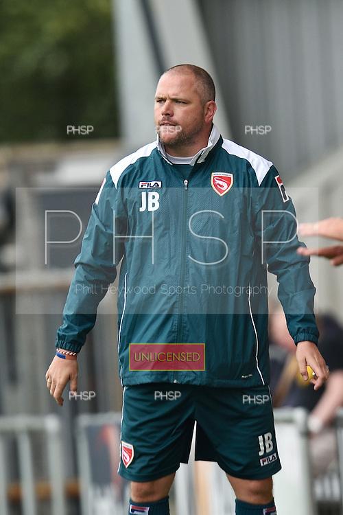 16/08/2014 Sky Bet League Two Morecambe v Newport County<br /> Jim Bentley, Morecambe FC manger