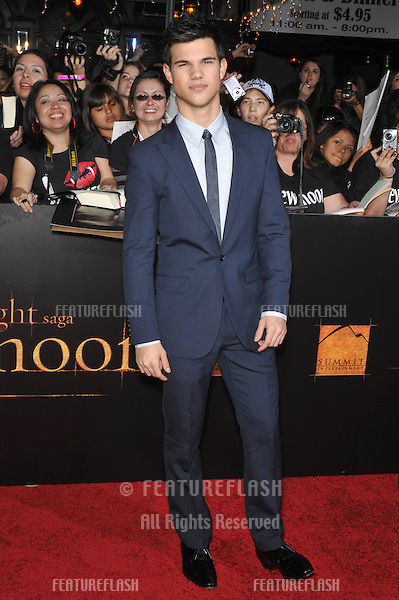 "Taylor Lautner at the world premiere of his new movie ""The Twilight Saga: New Moon"" at Mann Village & Bruin Theatres, Westwood..November 16, 2009  Los Angeles, CA.Picture: Paul Smith / Featureflash"