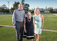 The Occidental community celebrates its student-athletes with the induction of two athletes and its first team into the Occidental Athletics Hall of Fame during Family Weekend & Homecoming on Friday, Oct. 21, 2016 in Jack Kemp Stadium. The 2016 inductees include pitching great Don Hagen '64, Olympic synchronized swimmer Jo Ann (Brobst) Hirsch '58 and the 1957 Men's Track and Field team. This year's class brings the total of Hall of Famers to 31 individuals and one team.<br />