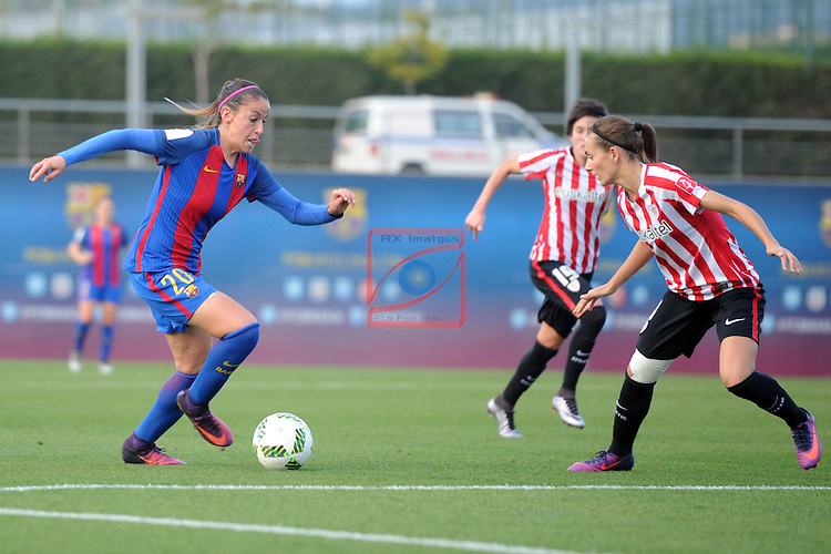Spanish Women's Football League Iberdrola 2016/17 - Game: 11.<br /> FC Barcelona vs Athletic Club: 2-1.<br /> Olga Garcia vs Moraza.