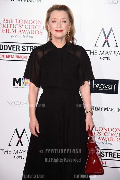 Lesley Manville at the 38th Annual London Critics' Circle Film Awards at the Mayfair Hotel, London, UK. <br /> 28 January  2018<br /> Picture: Steve Vas/Featureflash/SilverHub 0208 004 5359 sales@silverhubmedia.com