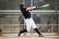 Edgewood College Eagles Garrett Bogucki (25) at bat during the second game of a doubleheader against Western Connecticut Colonials on March 13, 2017 at the Lee County Player Development Complex in Fort Myers, Florida.  Edgewood defeated Western Connecticut 2-1.  (Mike Janes/Four Seam Images)