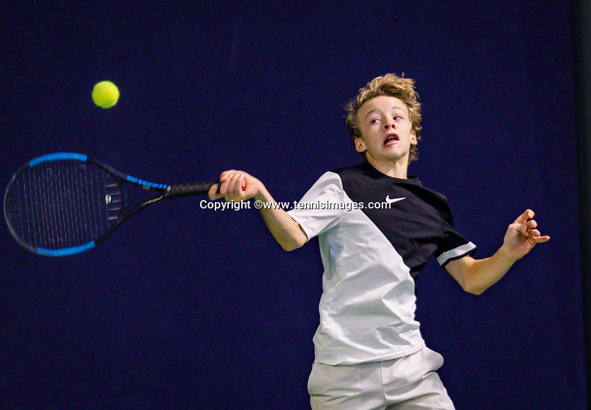 Hilversum, Netherlands, December 2, 2018, Winter Youth Circuit Masters, Marcus van den Berg (NED)<br /> Photo: Tennisimages/Henk Koster