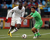 Jozy Altidore USA. USA defeated Algeria 1-0 in stoppage time in the 2010 FIFA World Cup at Loftus Versfeld Stadium in Pretoria, Sourth Africa, on June 23th, 2010.