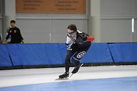 SCHAATSEN: SALT LAKE CITY: Utah Olympic Oval, 12-11-2013, Essent ISU World Cup, training, Denny Morrison (CAN), ©foto Martin de Jong