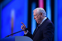 Washington, DC - March 24, 2019: U.S. Representative Steny Hoyer, House Majority Leader, addresses attendees of the 2019 AIPAC Policy Conference held at the Washington Convention Center, March 24, 2019.  (Photo by Don Baxter/Media Images International)