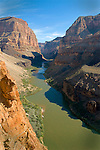 A view looking upstream, halfway up the Whitmore Trail in Grand Canyon, AZ
