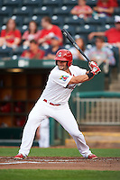 Springfield Cardinals outfielder Nick Martini (3) at bat during a game against the Frisco RoughRiders  on June 3, 2015 at Hammons Field in Springfield, Missouri.  Springfield defeated Frisco 7-2.  (Mike Janes/Four Seam Images)