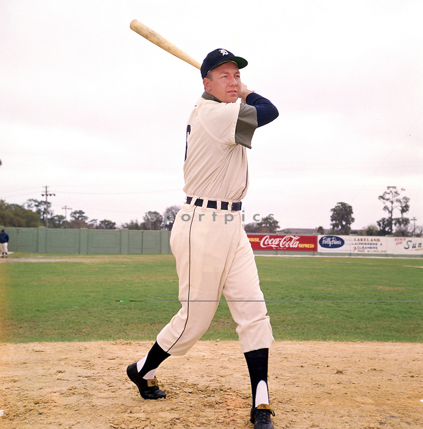 Detroit Tigers Al Kaline (6) portrait from his 1960 season. Al Kaline played for 22 season all with the Detroit Tigers was a15-time All-Star, the National League MVP in 1971 and was inducted to the Baseball Hall of Fame in 1980.(SportPics)