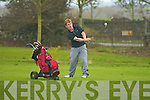 Gary Kavanagh in the singles of the Lawlor Final at Ardfert Golf Course on Sunday..   Copyright Kerry's Eye 2008