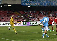 NAPOLI 29/07/2012 -ACQUA LETE CUP 2012 INCONTRO NAPOLI - BAYERN LEVERKUSEN.NELLA FOTO gol  GORAN PANDEV.FOTO CIRO DE LUCA