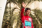 Bryan Coquard (FRA) Vital Concept Cycling Club wins Stage 1 and wears the first leaders Red Jersey of the 2018 Tour of Oman running 162.5km from Nizwa to Sultan Qaboos University. 13th February 2018.<br /> Picture: ASO/Muscat Municipality/Kare Dehlie Thorstad | Cyclefile<br /> <br /> <br /> All photos usage must carry mandatory copyright credit (&copy; Cyclefile | ASO/Muscat Municipality/Kare Dehlie Thorstad)