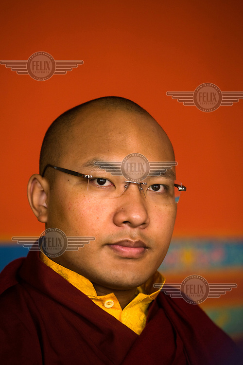 His Holiness, The Seventeenth Karmapa, Ogyen Drodul Trinley Dorje, at the Vajra Vidya Institute for Buddhist Studies. In 1992 a 7-year-old Tibetan nomad, Apo Gaga, was recognised as the Seventeenth Karmapa and went to live in Tolung Tsurphu Monastery, the historic seat of the Karmapas. He escaped Tibet for India at the turn of the millennium in order to continue, without interference, the primary role of the Karmapa, preserving and propagating the Buddhist teachings of Tibet.