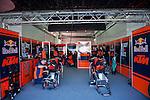 VALENCIA, SPAIN - NOVEMBER 11: KTM Moto GP Team  Box during Valencia MotoGP 2016 at Ricardo Tormo Circuit on November 11, 2016 in Valencia, Spain