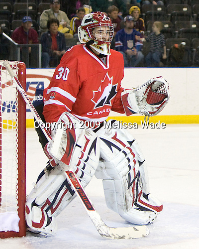 Michael Zador (Canada - 30) - Finland defeated Canada 5-4 (so) in the 2009 World Under 18 Championship bronze medal game at the Urban Plains Center in Fargo, North Dakota, on Sunday, April 19, 2009.