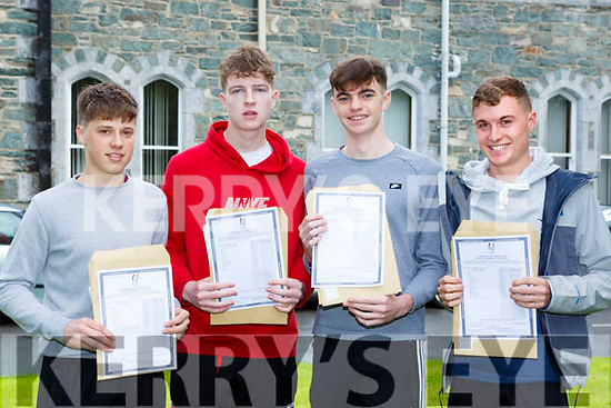 St Brendans College students l-r: David Kenny Firies, Cian O'Shea Fossa, Rob Lee Fossa and Luke Casey Killarney celebrate their Leaving Cert results on wednesday