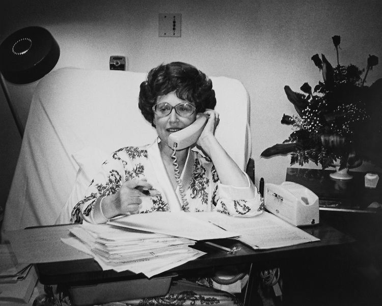 Rep. Gladys Spellman, D-Md., in her office in 1976. (Photo by CQ Roll Call)