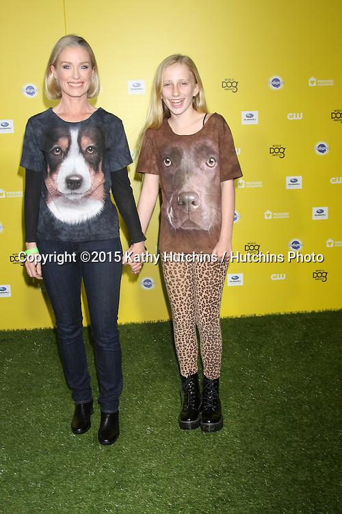 "LOS ANGELES - JAN 10:  Jessica Tuck, Samara Koseff at the CW Network presents ""World Dog Awards"" at a Barker Hanger on January 10, 2015 in Santa Monica, CA"