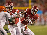 Hawgs Illustrated/BEN GOFF <br /> David Williams, Arkansas running back, carries in the 2nd quarter against Florida A&M Thursday, Aug. 31, 2017, during the game at War Memorial Stadium in Little Rock.