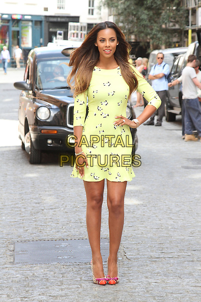 LONDON, ENGLAND - JULY 16: Rochelle Humes of The Saturdays attends a photocall to launch her collection for Very.co.uk at Claridges Hotel on July 16, 2014 in London<br /> CAP/ROS<br /> &copy;Steve Ross/Capital Pictures
