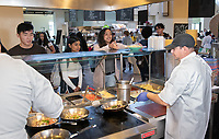 Sauté Station<br /> The Marketplace in the Johnson Student Center (JSC) on Jan. 24, 2019, maintained by Campus Dining.<br /> (Photo by Marc Campos, Occidental College Photographer)