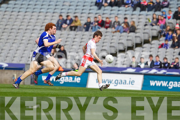 Maitiú Ó Flatharta Pobalscoil Chorca Duibhne,in action against Conor Glass St.Patrick's College Maghera, in the Hogan Cup Final, in Croke Park, Dublin on Saturday.