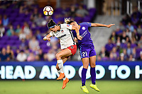 Orlando, FL - Saturday July 07, 2018: Ashley Hatch, Monica Hickman Alves during the second half of a regular season National Women's Soccer League (NWSL) match between the Orlando Pride and the Washington Spirit at Orlando City Stadium. Orlando defeated Washington 2-1.
