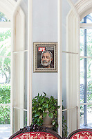 The sitting room at The Ernest Hemingway House, Key West, FL. A cover of Life magazine featuring Hemingway is featured on the wall. Images are available for editorial licensing, either directly or through Gallery Stock. Some images are available for commercial licensing. Please contact lisa@lisacorsonphotography.com for more information.