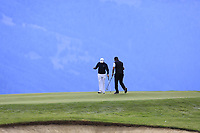 Matthew Fitzpatrick (ENG) sinks his birdie putt on the 7th green during Sunday's Final Round of the 2017 Omega European Masters held at Golf Club Crans-Sur-Sierre, Crans Montana, Switzerland. 10th September 2017.<br /> Picture: Eoin Clarke | Golffile<br /> <br /> <br /> All photos usage must carry mandatory copyright credit (&copy; Golffile | Eoin Clarke)